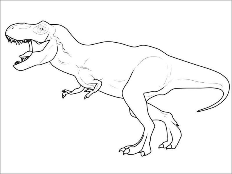 Những tranh tô màu khủng long đẹp nhất cho bé tập tô (4)