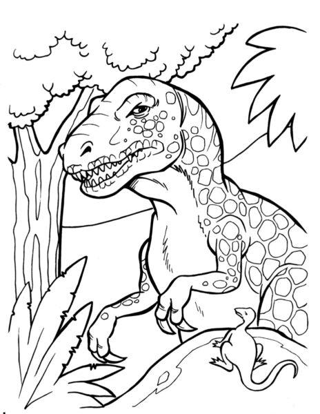 Những tranh tô màu khủng long đẹp nhất cho bé tập tô (5)