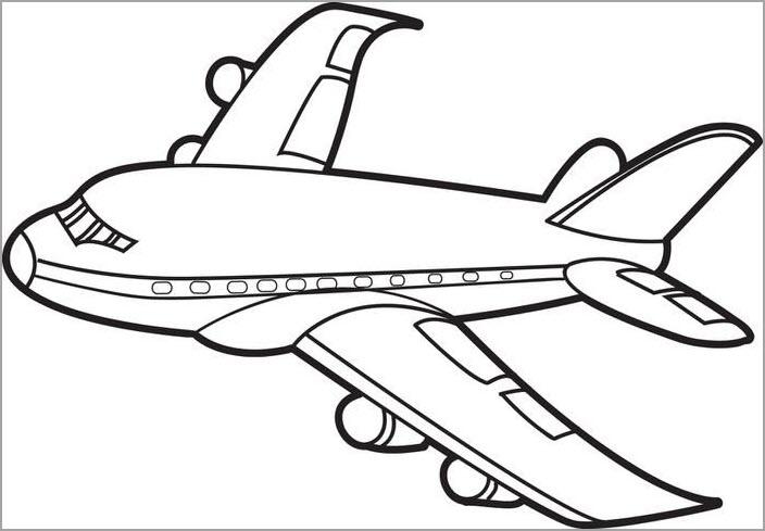 Những tranh tô màu máy bay đẹp nhất cho bé tập tô (1)