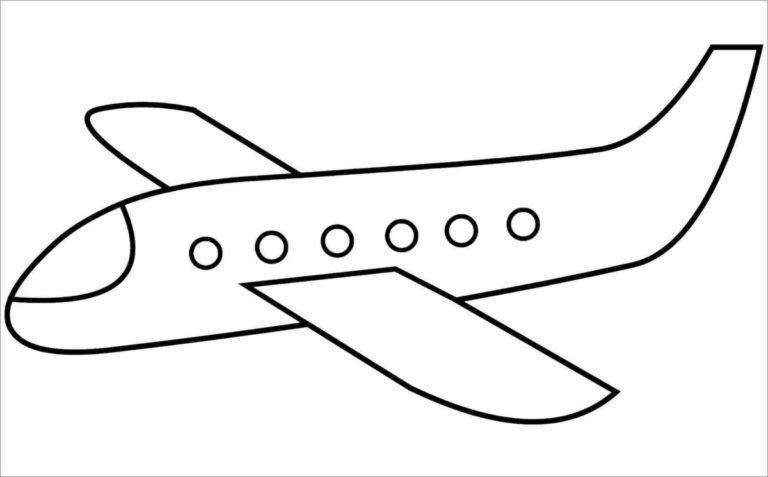 Những tranh tô màu máy bay đẹp nhất cho bé tập tô (4)