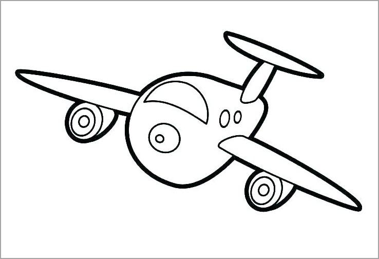 Những tranh tô màu máy bay đẹp nhất cho bé tập tô (5)