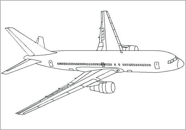 Những tranh tô màu máy bay đẹp nhất cho bé tập tô (6)
