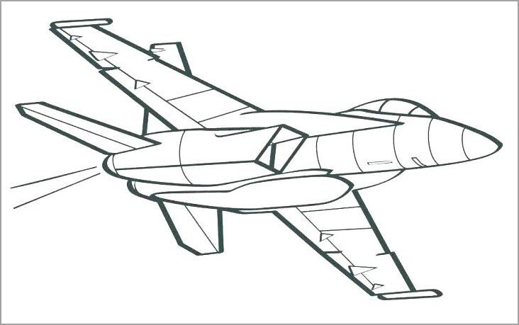 Những tranh tô màu máy bay đẹp nhất cho bé tập tô (7)
