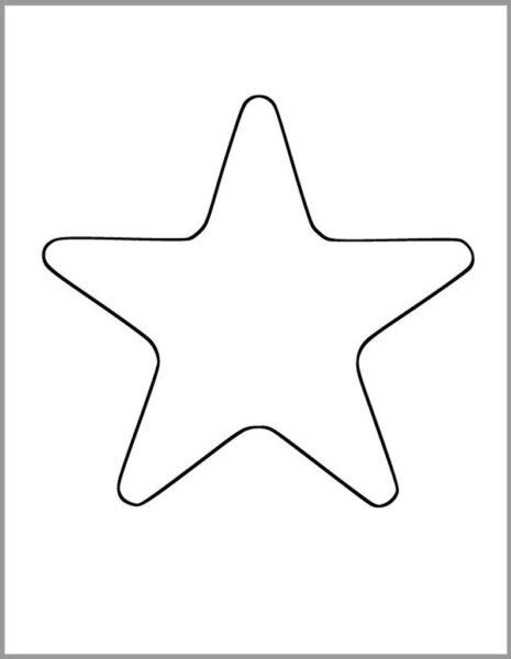 Những tranh tô màu ngôi sao cho bé tập tô (2)