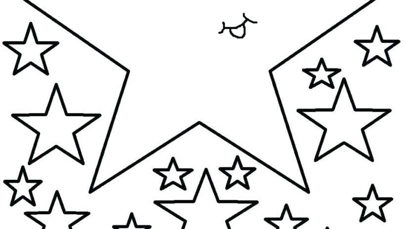 Những tranh tô màu ngôi sao cho bé tập tô (3)