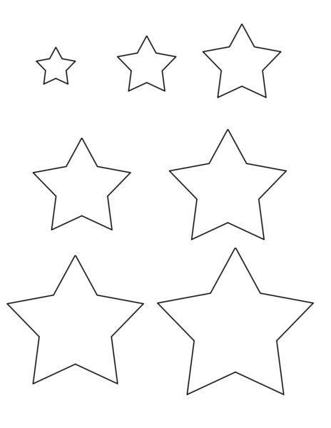 Những tranh tô màu ngôi sao cho bé tập tô (4)