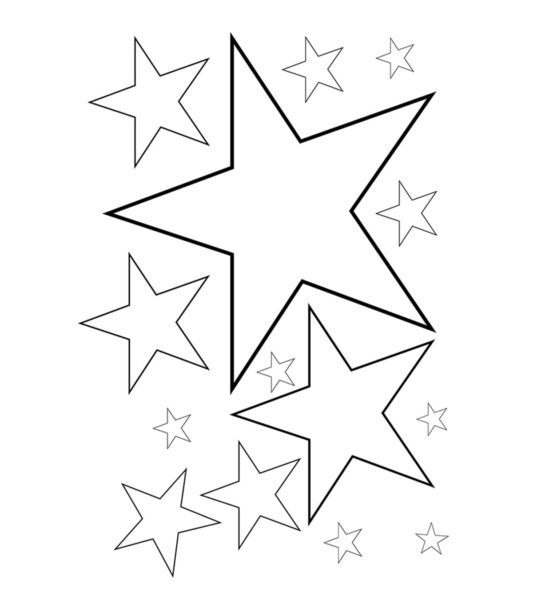 Những tranh tô màu ngôi sao cho bé tập tô (5)