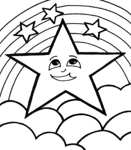 Những tranh tô màu ngôi sao cho bé tập tô (6)