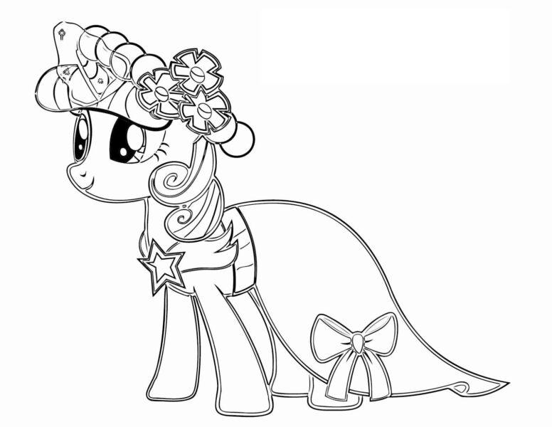 Những tranh tô màu ngựa Pony (1)