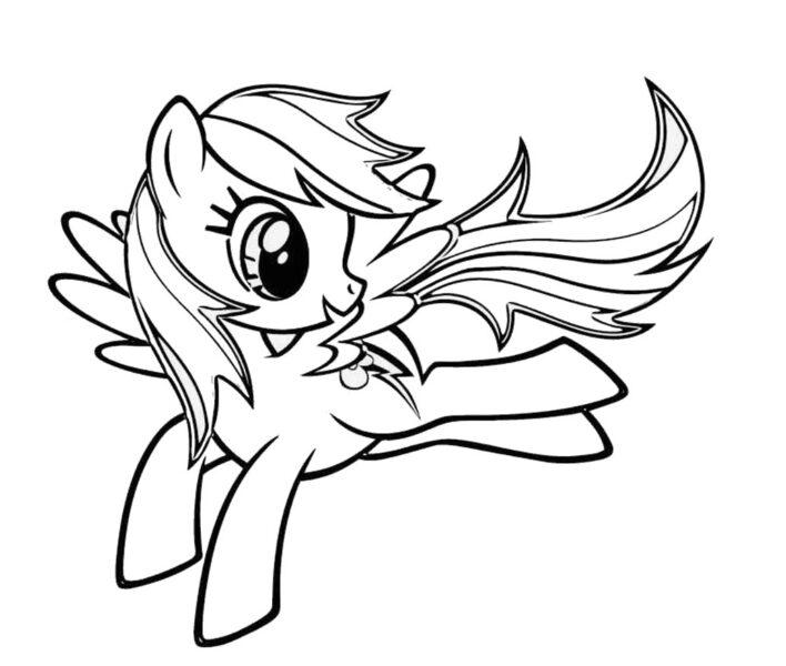 Những tranh tô màu ngựa Pony (2)