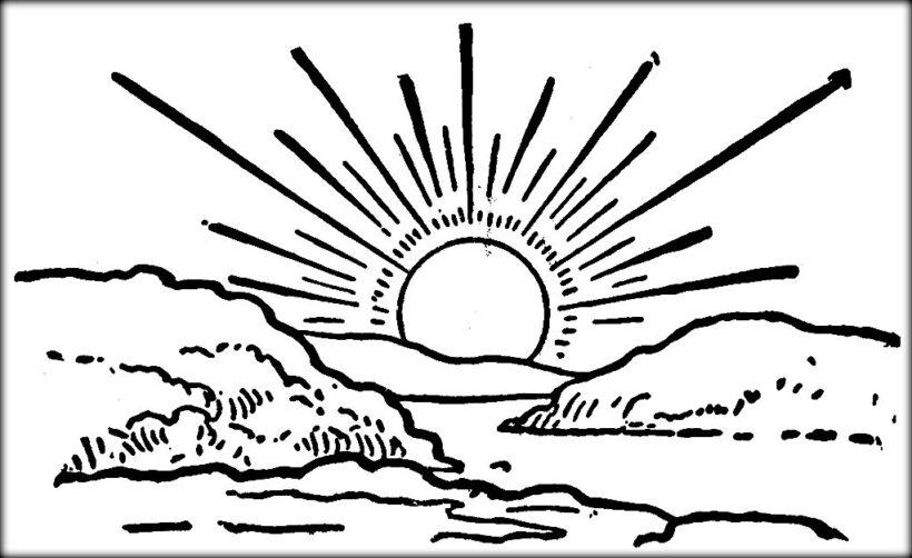 Những tranh tô màu ông mặt trời dễ thương nhất cho bé tập tô (2)