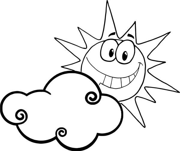 Những tranh tô màu ông mặt trời dễ thương nhất cho bé tập tô (4)