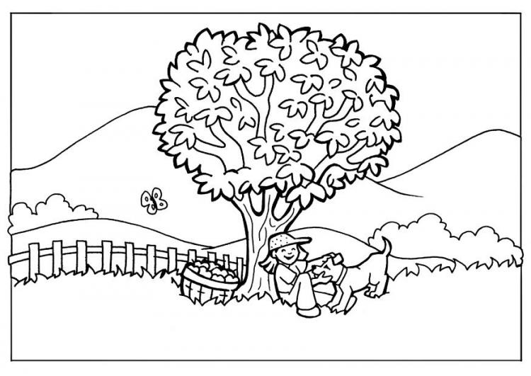 Những tranh tô màu phong cảnh cho bé tập tô (5)