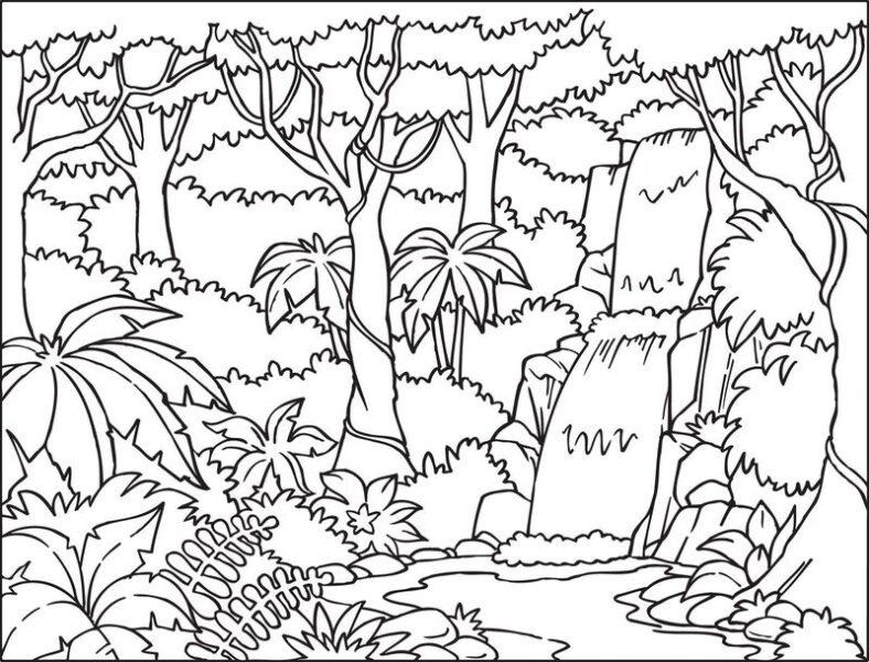 Những tranh tô màu phong cảnh cho bé tập tô (8)
