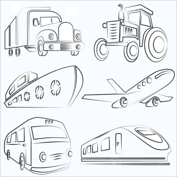 Những tranh tô màu phương tiện giao thông ngộ nghĩnh cho bé tập tô (1)