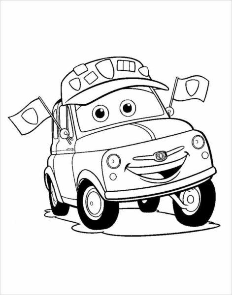 Những tranh tô màu phương tiện giao thông ngộ nghĩnh cho bé tập tô (3)