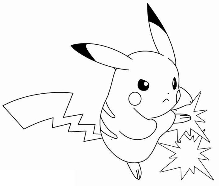 Những tranh tô màu Pokemon cho bé tập tô (1)