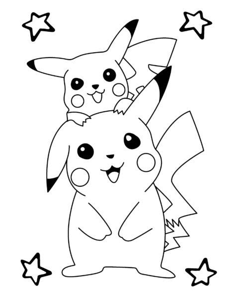 Những tranh tô màu Pokemon cho bé tập tô (3)