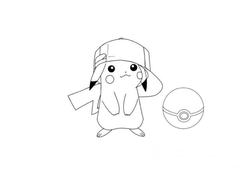 Những tranh tô màu Pokemon cho bé tập tô (6)