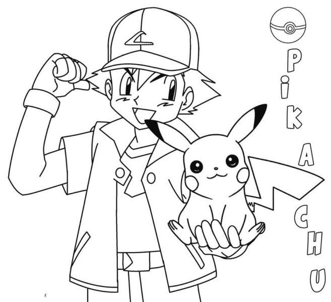 Những tranh tô màu Pokemon cho bé tập tô (7)