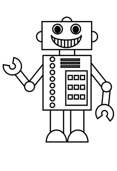 Những tranh tô màu robot ấn tượng cho bé tập tô (1)