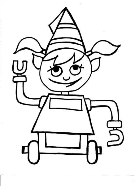 Những tranh tô màu robot ấn tượng cho bé tập tô (2)