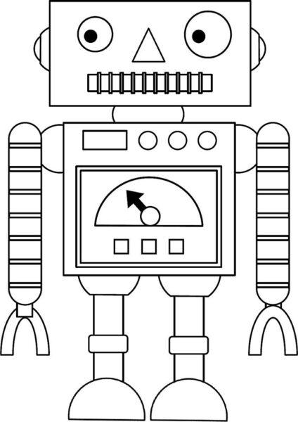 Những tranh tô màu robot ấn tượng cho bé tập tô (4)