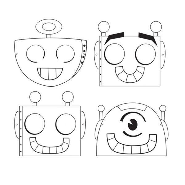 Những tranh tô màu robot ấn tượng cho bé tập tô (5)