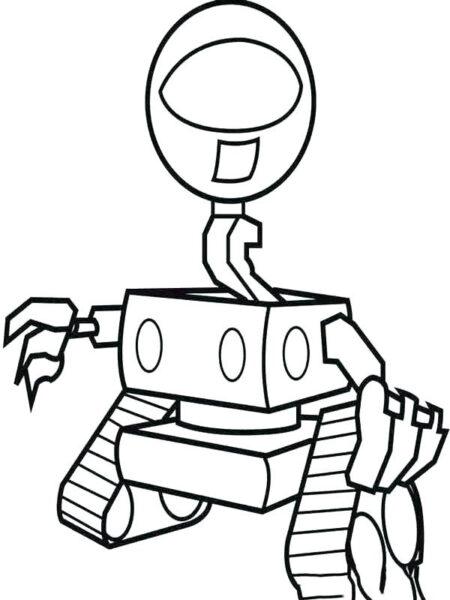 Những tranh tô màu robot ấn tượng cho bé tập tô (6)