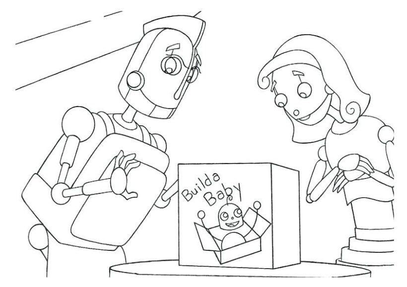 Những tranh tô màu robot ấn tượng cho bé tập tô (7)