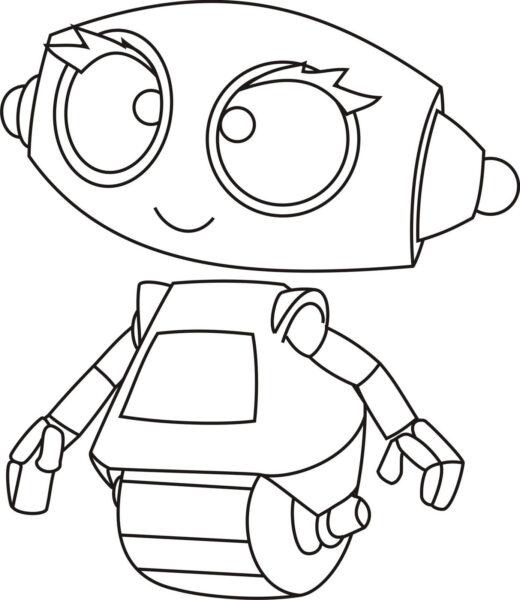 Những tranh tô màu robot ấn tượng cho bé tập tô (8)