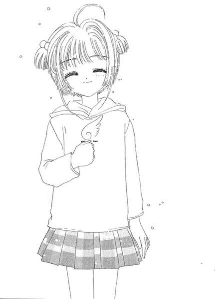 Những tranh tô màu Sakura đẹp nhất cho bé tập tô (3)