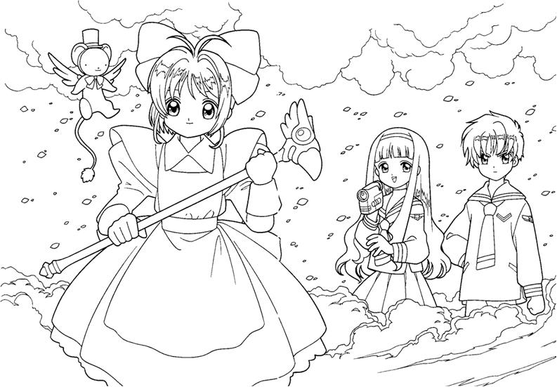 Những tranh tô màu Sakura đẹp nhất cho bé tập tô (6)