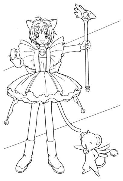 Những tranh tô màu Sakura đẹp nhất cho bé tập tô (7)