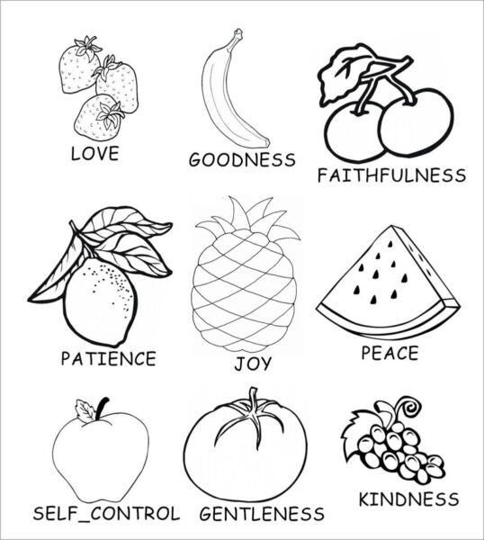Những tranh tô màu trái cây đẹp nhất cho bé tập tô (5)