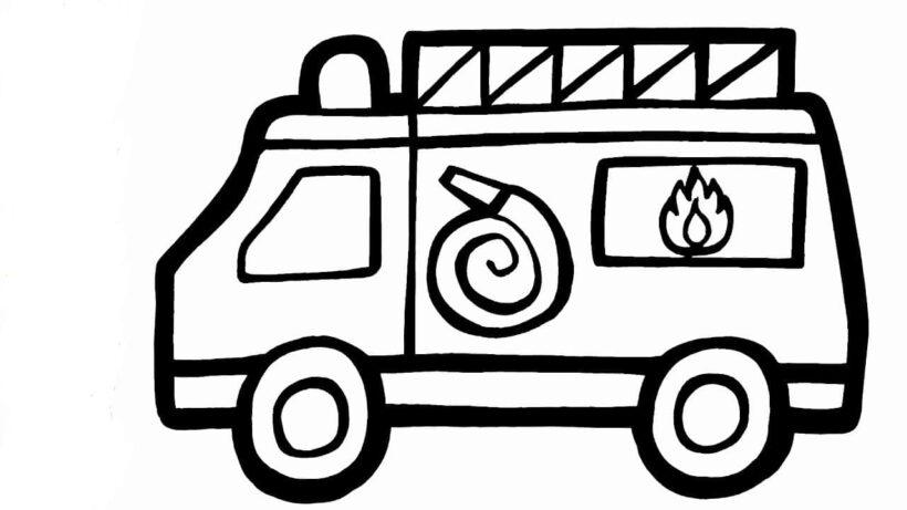 Những tranh tô màu xe cứu hoả đẹp nhất cho bé tập tô (2)