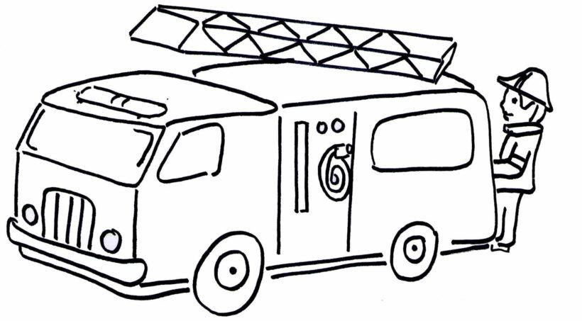 Những tranh tô màu xe cứu hoả đẹp nhất cho bé tập tô (3)