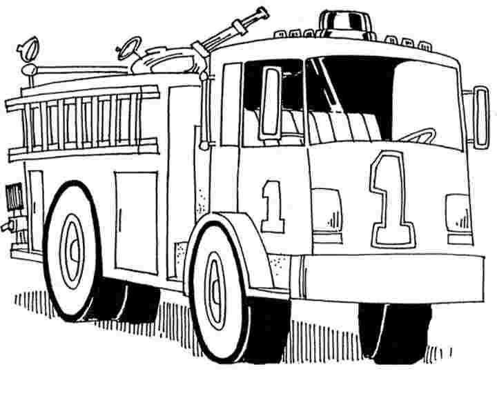 Những tranh tô màu xe cứu hoả đẹp nhất cho bé tập tô (4)