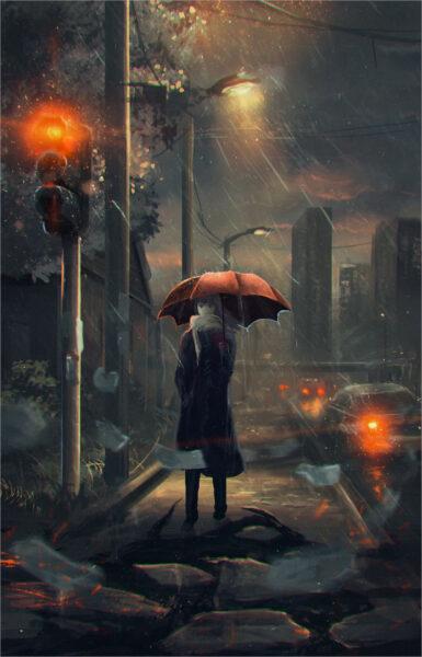 tải ảnh mưa buồn anime nhất