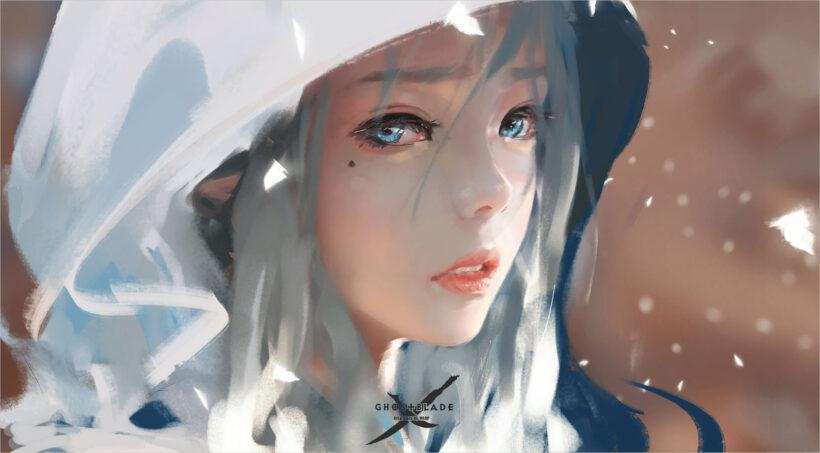 Tải hình nền laptop anime girl buồn cute full-HD