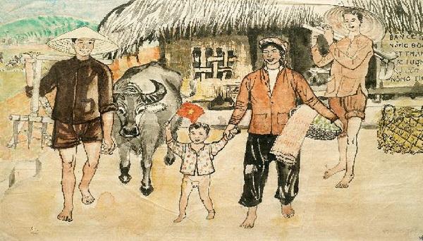 tranh gia đình hạnh phúc của PHần Thông