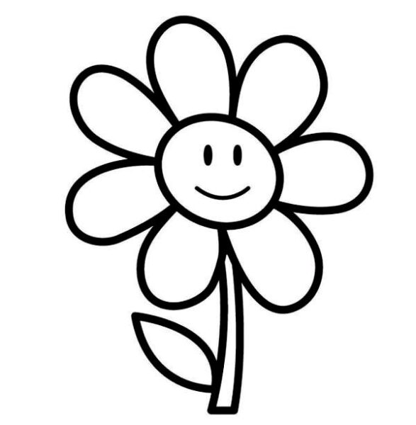 Tranh tô màu bông hoa đẹp nhất cho bé tập tô (1)