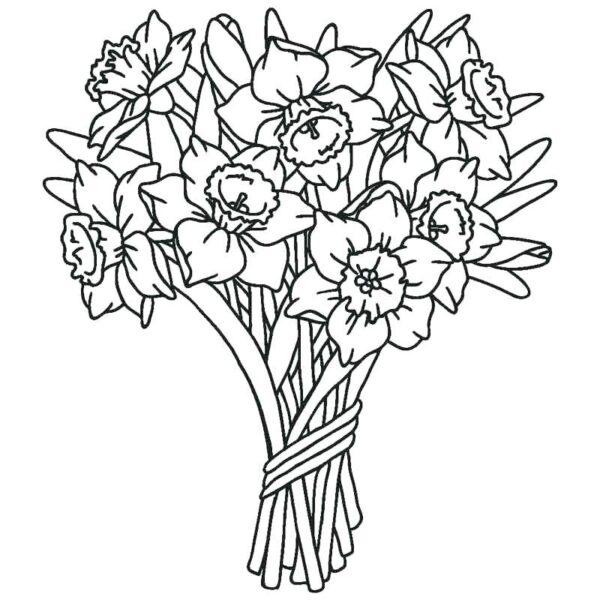 Tranh tô màu bông hoa đẹp nhất cho bé tập tô (27)