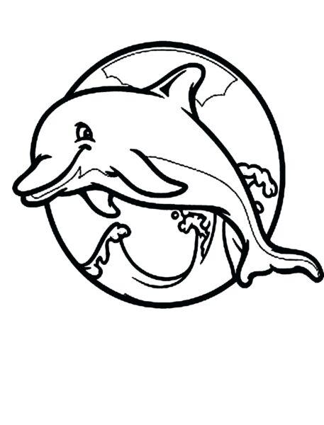 Tranh tô màu cá heo đẹp nhất cho bé tập tô (41)
