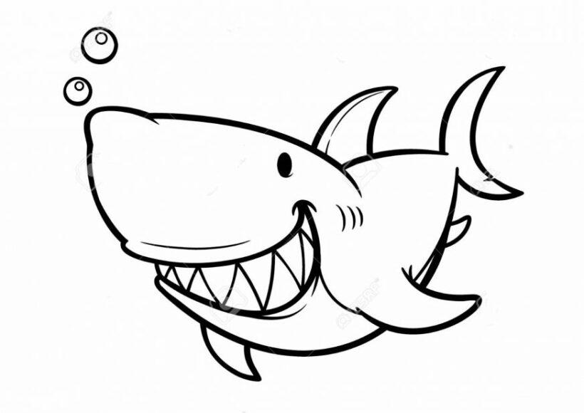 Tranh tô màu cá mập đẹp nhất cho bé tập tô (40)