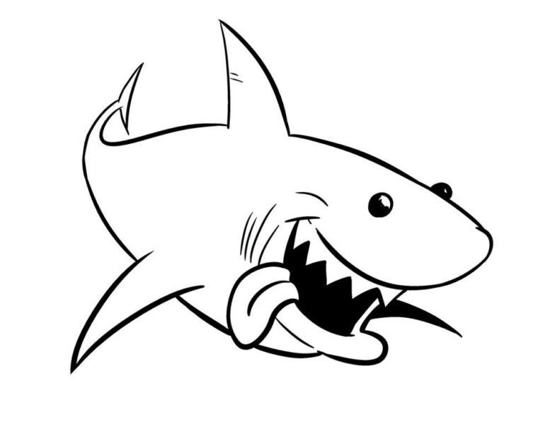 Tranh tô màu cá mập đẹp nhất cho bé tập tô (46)