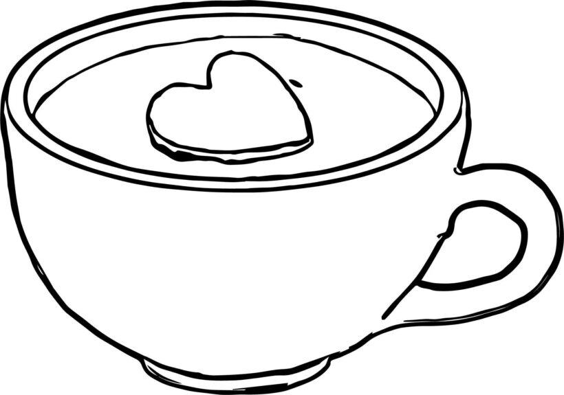 coffee mug coloring page Luxury Cup Coffee Coloring Page Coloring Pages Coloring Pages