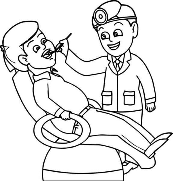 Tranh tô màu chủ đề nghề nghiệp cho bé tập tô (40)