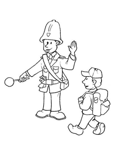Tranh tô màu chủ đề nghề nghiệp cho bé tập tô (42)