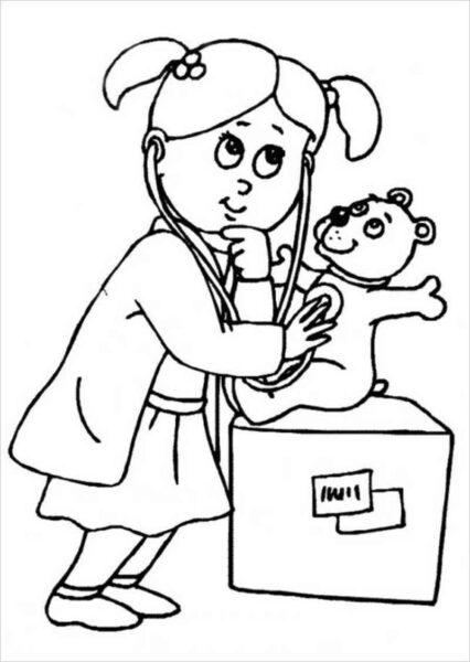 Tranh tô màu chủ đề nghề nghiệp cho bé tập tô (43)